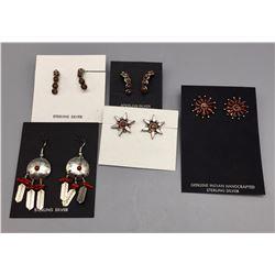 5 Pairs of Coral Earrings