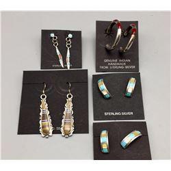 5 Pair of Inlay Earrings