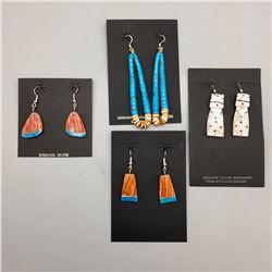 4 Pair Pueblo Style Earrings