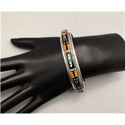 Navajo Inlay Bracelet - Ray Jack