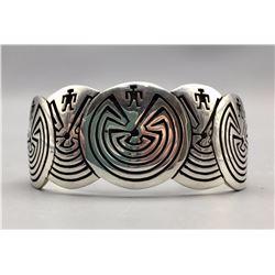 Hopi Man-in-the-Maze Bracelet by Josytewa