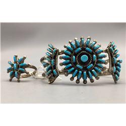 Needlepoint Bracelet and Ring
