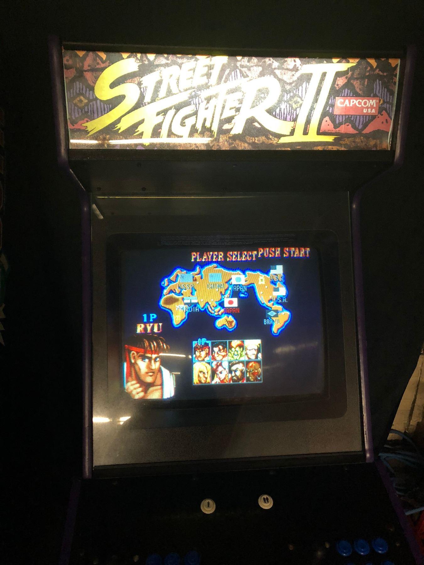 Original 1991 Street Fighter Ii The World Warrior Arcade