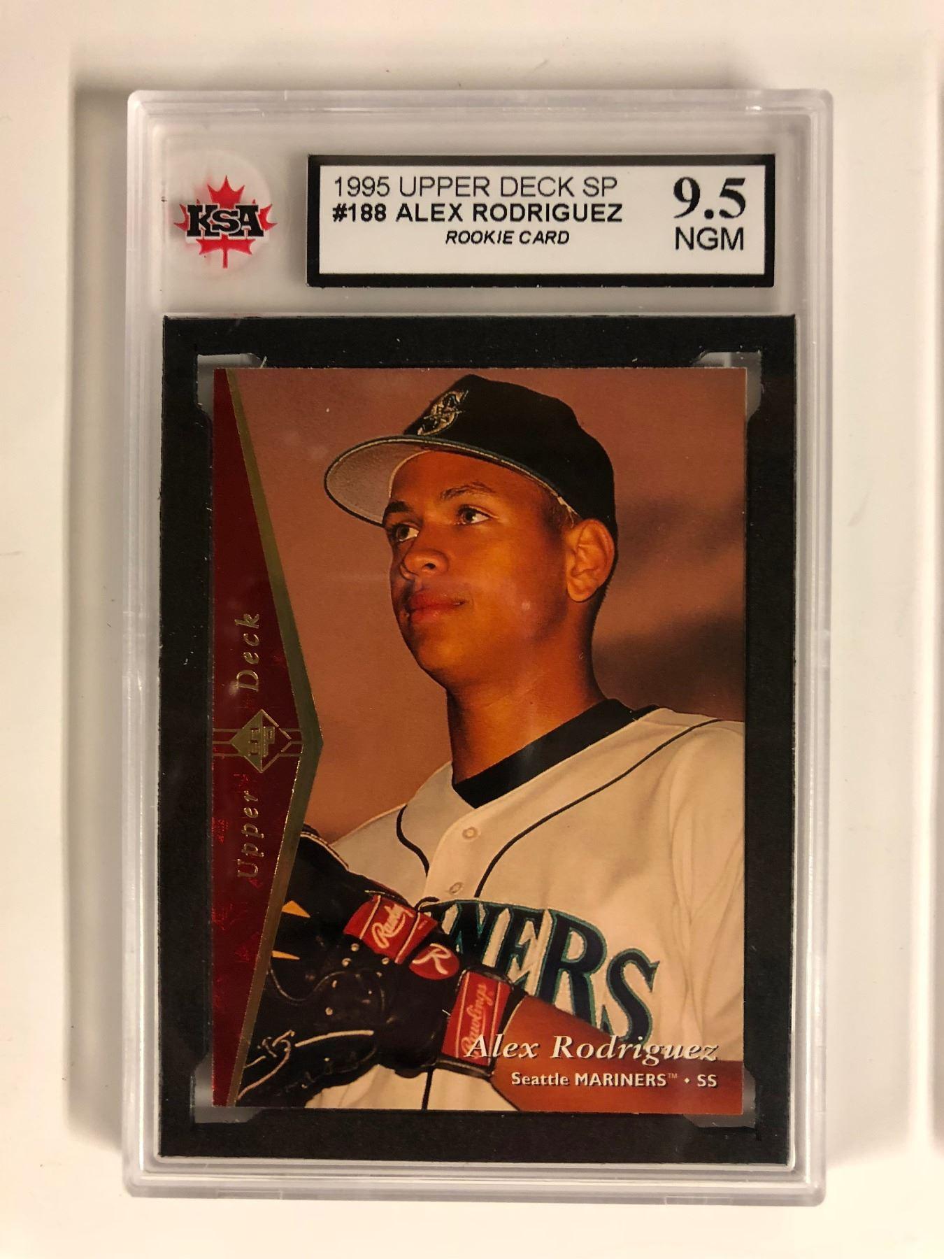 1995 Upper Deck Sp 188 Alex Rodriguez Rookie Card 95 Ngm Ksa