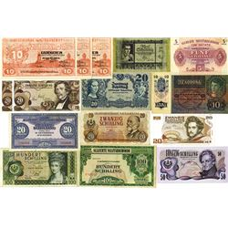 Austria Banknote Assortment ca.1940-1980's.