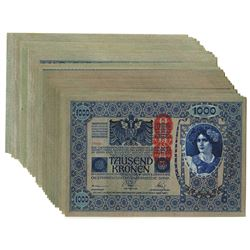 Austria-Hungarian Bank 1902 Issues reissued in 1919 Assortment.