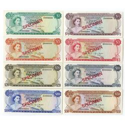 Bahamas Monetary Authority, 1968, SPECIMEN Octet.