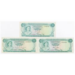 Central Bank & Bahamas Monetary Authority Banknote Trio, ca.1968-74.