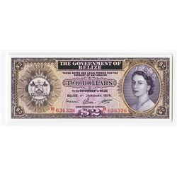 Government of Belize, 1975 Issue Banknote.