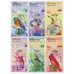 Bermuda Monetary Authority, 2009 Specimen set of 6 Notes.