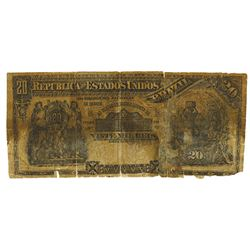Republica Dos Estados Unidos Do Brazil, 1892 E.8A Contemporary Counterfeit Banknote.