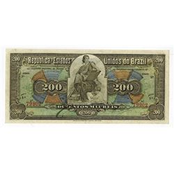 Republica Dos Estados Unidos Do Brazil, 1908 E.11A High Quality Contemporary Counterfeit Banknote.