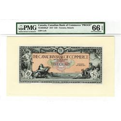 Canadian Bank of Commerce. 1917 Issue Proof Banknote.