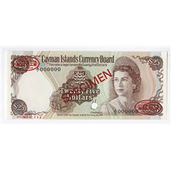 Cayman Islands Currency Board, 1974 Unlisted Specimen Banknote.