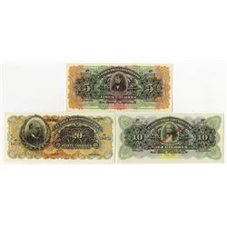 Banco Anglo Costarricense, 19xx, SPECIMEN Trio.