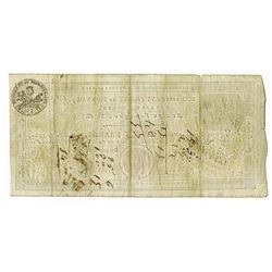 Caisse d'Echange des Monnaies de Rouen, 1803, Cancelled Issued Note.