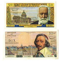 Banque De France, 1962-64 Banknote Issue Pair.