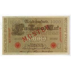 Reichsbanknote, 1910, SPECIMEN Note.
