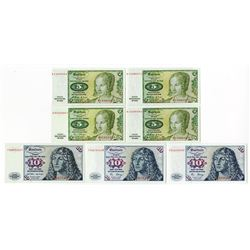 Deutsche Bundesbank, 1960-1980 Banknote Assortment.