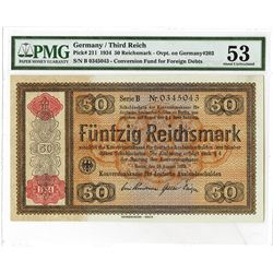Konversionkasse Fur Deutsche Auslandsschulden, 1934 Issue high Grade Note.