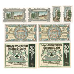 Munnerstadt and Mulsen St. Jacob 1921 Notgeld Assortment.