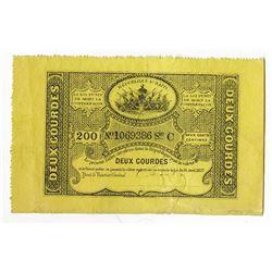 Republique d'Haiti, 1827, Issued Note.
