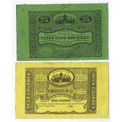 Republique d'Haiti, 1827, Issued Pair.