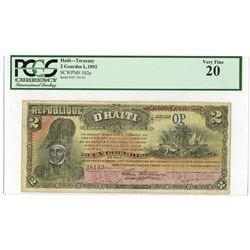 Republique D'Haiti, L.1892 Issued Banknote.
