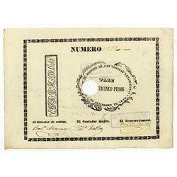 Republica de Honduras, 1848, Issued Note.