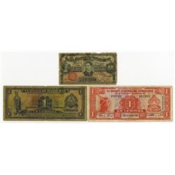 Honduras Banknote Trio Including Aguan Navigation and Improvement Co.
