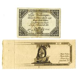 Kingdom of Sardinia, Regie Finanze-Torino, ND (ca. 1790s), Pair of Notes