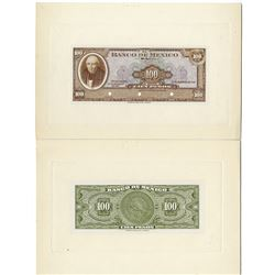 Banco De Mexico, Unlisted 1948 Dated Transition Issue 100 Pesos Banknote Proof