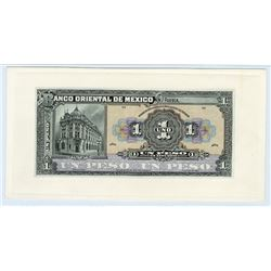 Banco Oriental De Mexico, ND (ca.1914) Proof banknote.