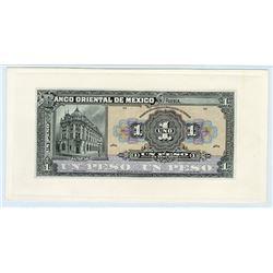 Banco Oriental De Mexico, ND (ca.1914) Proof banknote.