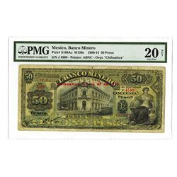 Banco Minero, 1910, Issued Banknote