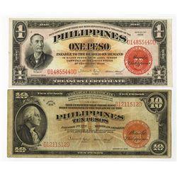 Philippines, 1936, Pair of Issued Treasury Certificates