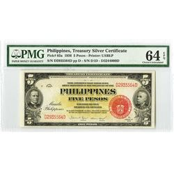 Philippines, 1936, Issued Treasury Silver Certificate