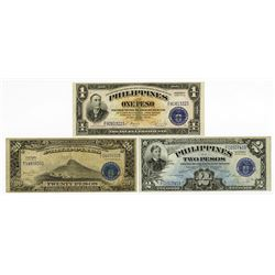 Philippines, 1944-1949, Trio of Issued Treasury Certificates