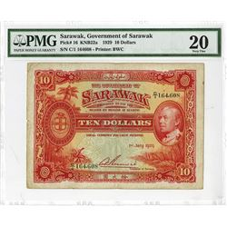 Government of Sarawak, 1929 Issue Banknote.