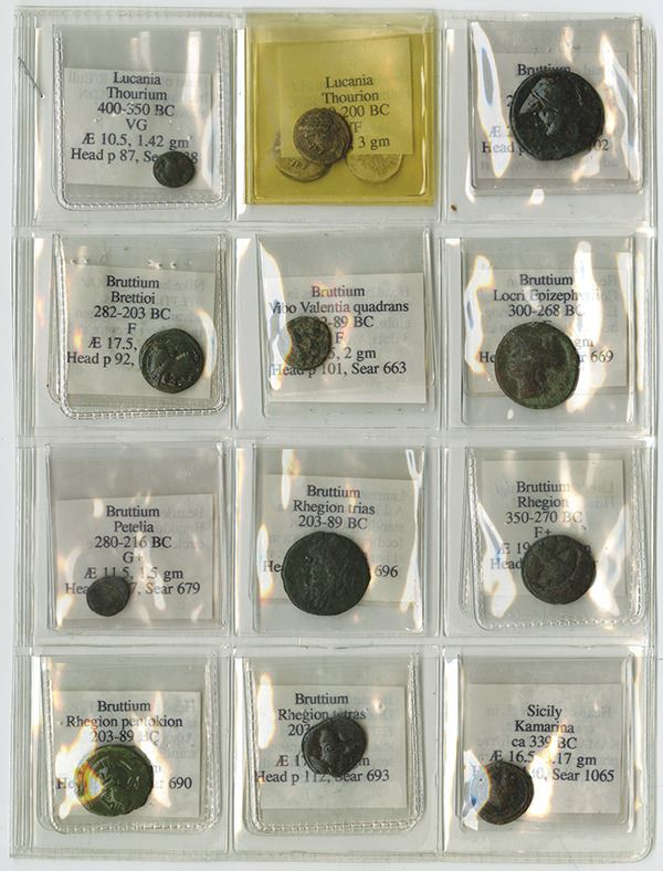 Greece Ancient Coin Group of 12, ca 400 BC to 89 BC