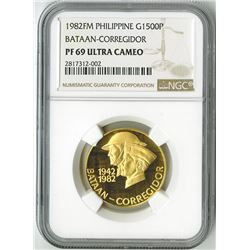 Philippines, 1982, Gold Bataan-Corregidor Anniversary Commemorative Coin.