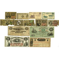 U.S. Obsolete Banknote Assortment, ca.1850-70's.