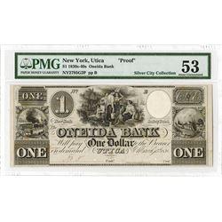 Oneida Bank, 1838 Obsolete Proof.
