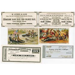 Advertising Note and Scrip Note assortment ca.1847-1890's.