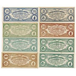 Elizabethton, PA Merchant's Bank. ND (ca.1890-1920) College Currency Assortment.
