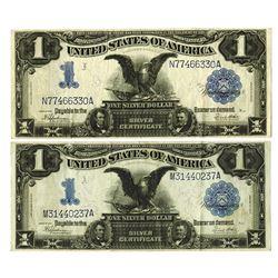U.S. Silver Certificate, $1 1899, Fr#236, Speelman | White Signatures Banknote Pair.