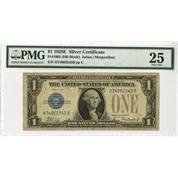 U.S. Silver Certificate, $1, Series 1928E, Fr#1605 (HB Block), Julian | Morgenthau Signatures.