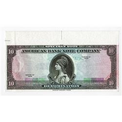 American Bank Note Co., 1929 (ca.1980-90) Tyvek Specimen Advertising Note.