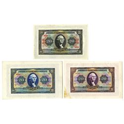 American Bank Note Company, ca.1910-30, George Washington & Bond Advertising Sheets.