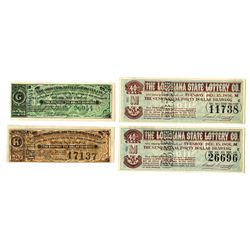 Louisiana Lottery Ticket Assortment, ca.1887-1891.
